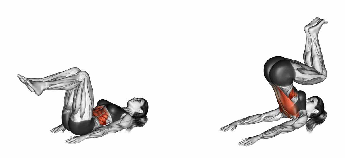 Il crunch inverso per addominali scolpiti