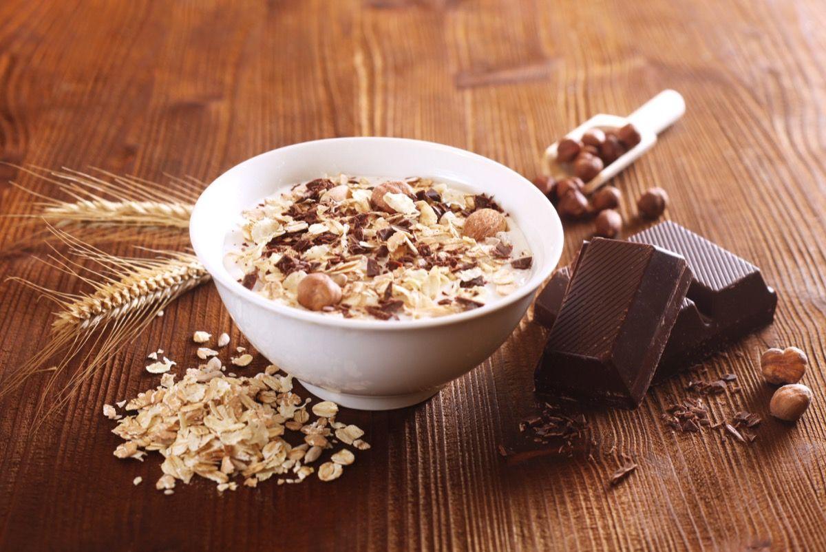 Cereali e cioccolato