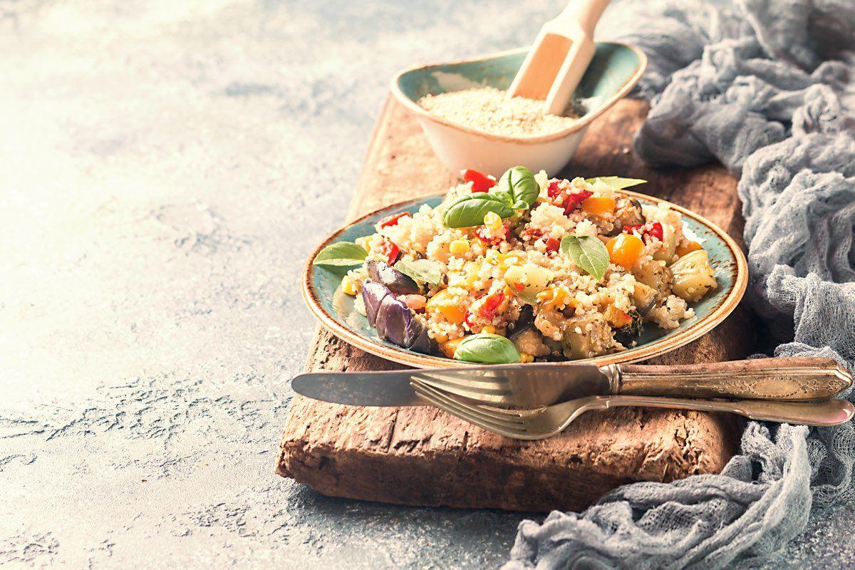 quinoa carciofi e verdure