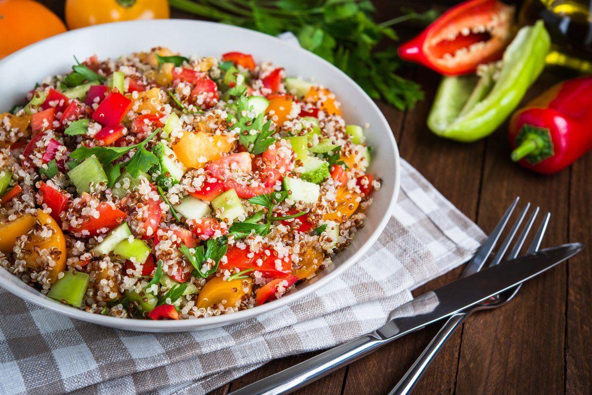 quinoa pomodori e verdure
