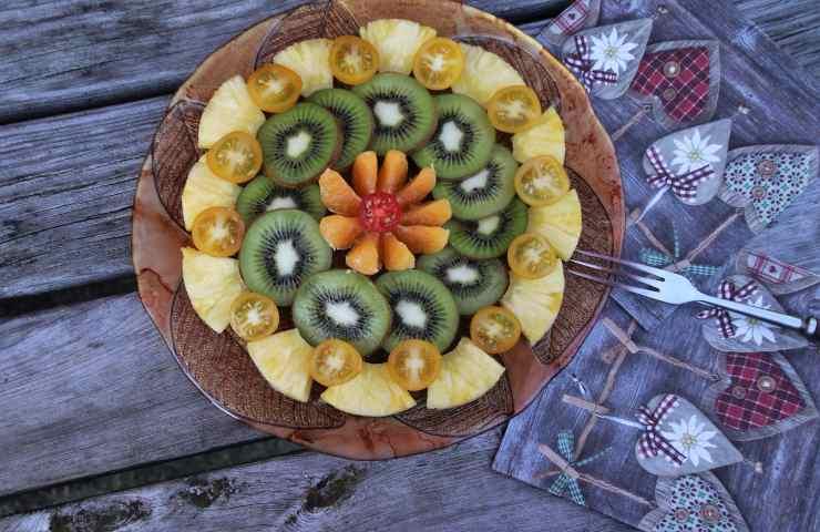 ananas e kiwi