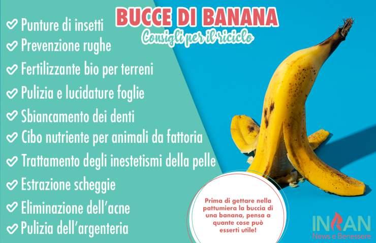 infografica bucce banana