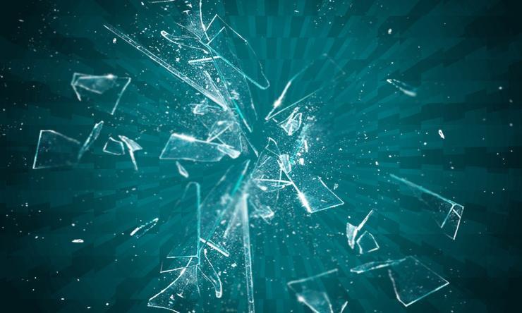 scheggia di vetro