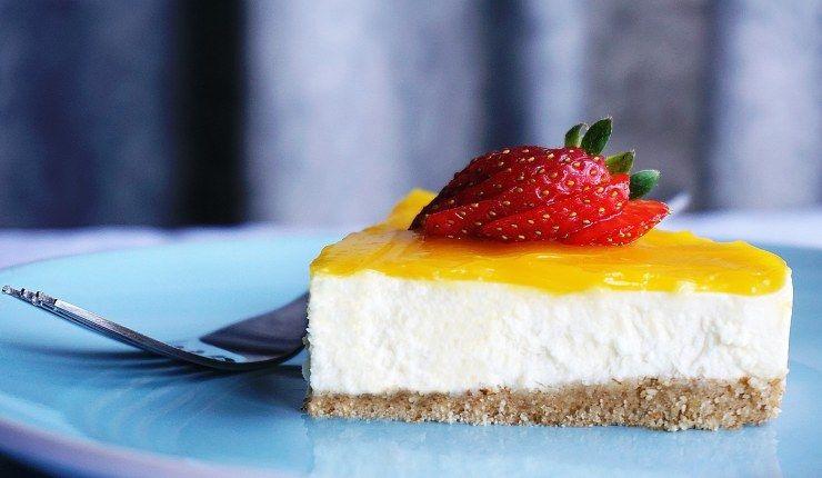 cheesecake light limone