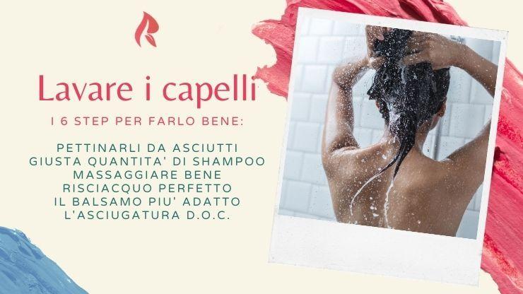 lavare i capelli in modo corretto