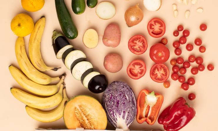 frutta e verdura tagliate