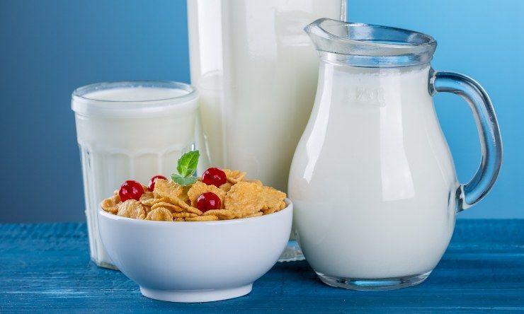 porzioni di latte