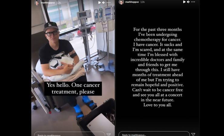 hoppus cancro cantante blink-182