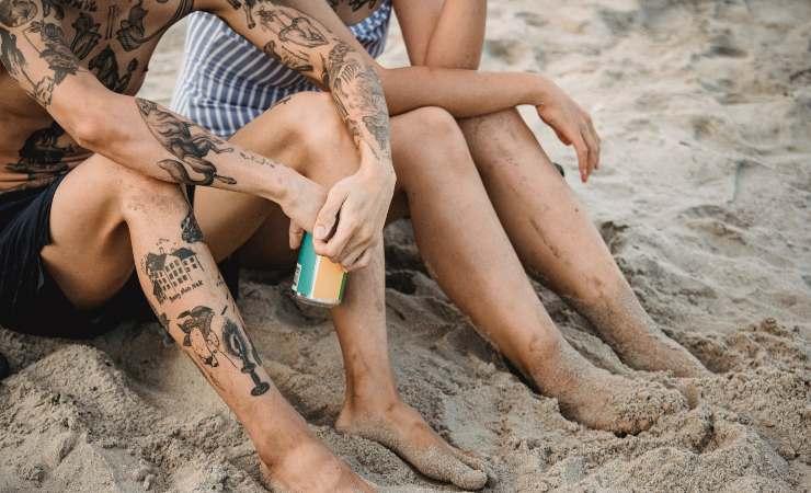 spiaggia tatuaggi