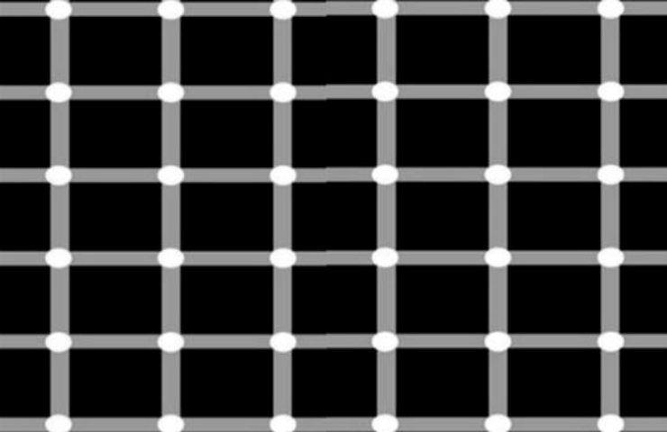 Sfida visiva illusione ottica