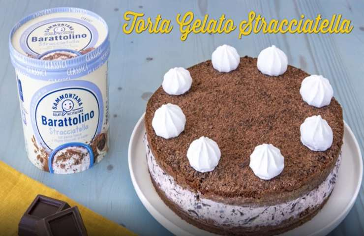 Benedetta Rossi torta gelato alla stracciatella