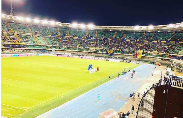 Verona-Inter dallo stadio