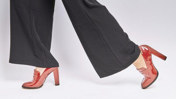 pantaloni wide leg