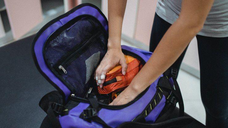 come preparare la borsa per la palestra