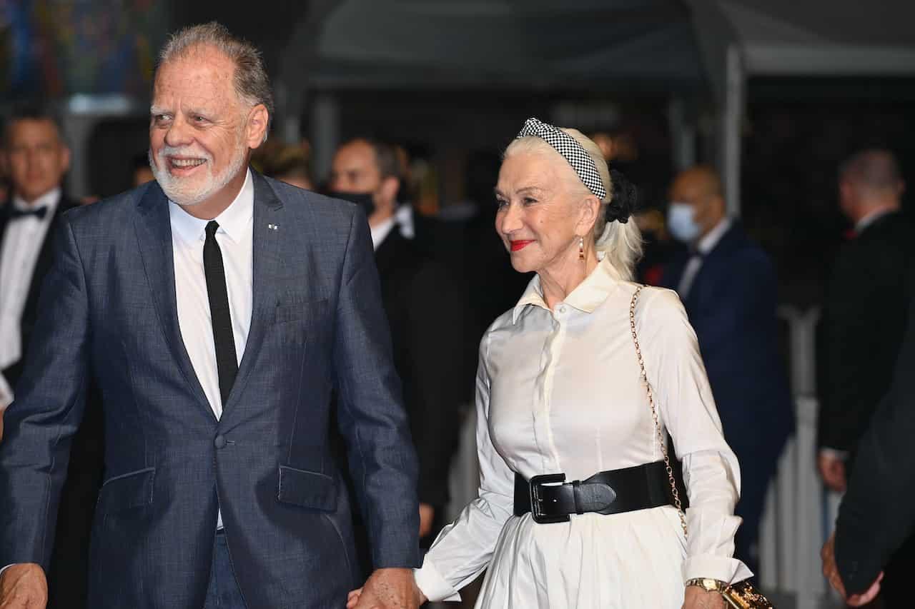 Helen Mirren e Checco Zalone al Petruzzelli (Getty Images)
