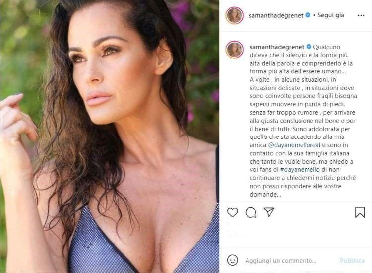 Samantha De grenet in soccorso della Mello