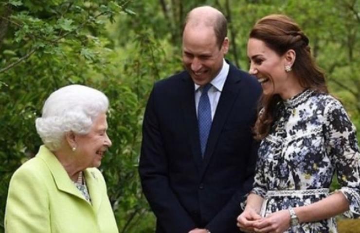 William e Kate con la Regina Elisabetta