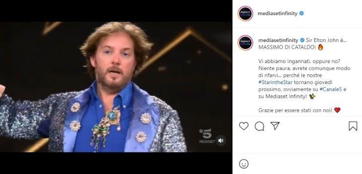 Mediaset post Instagram