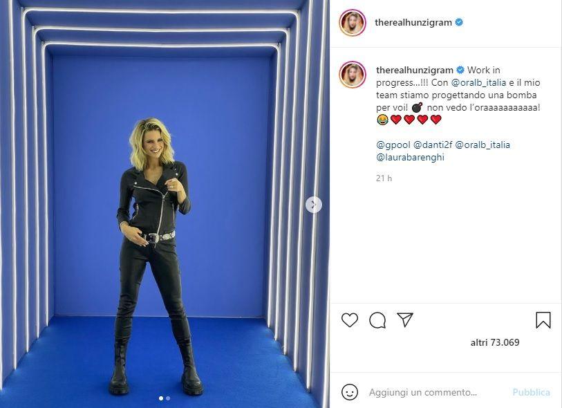 Michelle Hunziker post Instagram