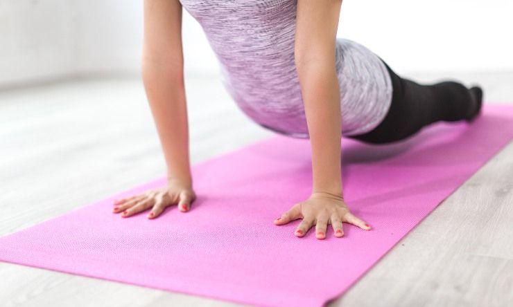 fitness su tappetino
