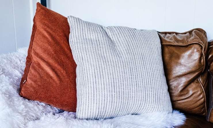 pulizia del cuscino