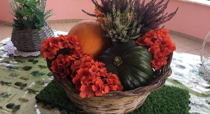 Decorare tavola in autunno