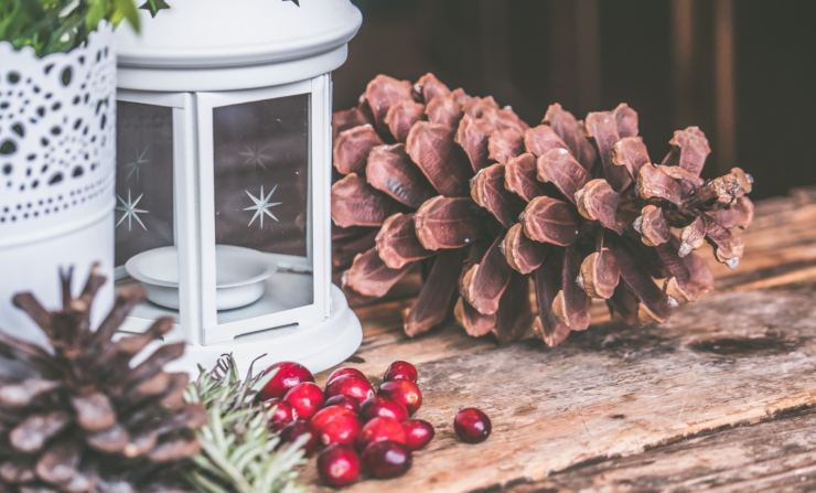 decorazioni natalizie con pigne